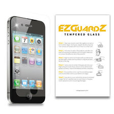 2X EZguardz Premium Tempered Glass Screen Protector For Apple iPhone 4S