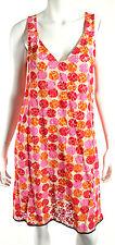 MARNI Pink, Orange, & Red Polka Dot Lace V-Neck Tank Dress 44
