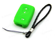 Green Silicone Case Cover Holder For Toyota Remote Smart Key 3 2 +1 Buttons 3BT