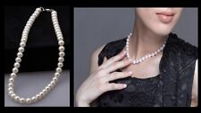 Freshwater Pearl White Drop Pearl Necklace Beaded Gift for Her with Gift Pouch