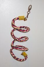 "Bounce Rope Boing Coil Perch Bird Parrot 1/2"" dia approx 55"" Long"