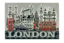 London Photo Montage Foil Stamped Fridge Magnet Souvenir Gift Collage Bus Taxi