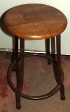Sgabello Vintage in legno di teak e ferro da cm 50h da scuola seduta 29 anni 70