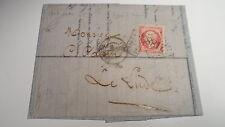 Pli du Mans à Le Lude - 1863 - Sur Napoléon 17A GC2188 - Après le départ