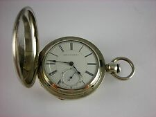 Antique Waltham Pre Civil War 18s key wind pocket watch. Neat coin case. 1860