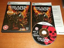 Gears of War-PC-DVD con Manual de papel v.g.c. Rápido Post