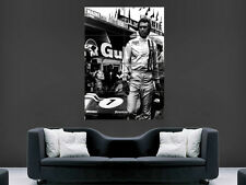 Le mans film poster steve mcqueen movie star france racing sport giant art print