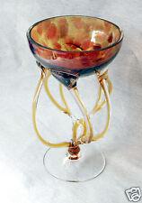SUPERBE coupe fleur rousse verre encastré MURANO cased glassraised bowl russet