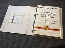 Porsche 956 FIA Group C owners manual and parts list english & german very rare