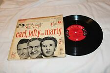 "Carl Smith/Lefty Frizzell/Marty Robbins 10"" LP with Original Cover-CARL, LEFTY A"