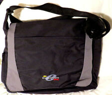 BLACK NYLON CANVAS  BRIEFCASE CROSSOVER LAPTOP BAG GMC EVOLUTION LOGO by LEED