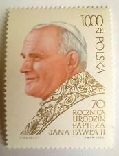 POLAND STAMPS MNH 1Fi3117 Sc2966 Mi3265 - Pope John Paul II, 1990, clean