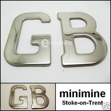 Classic Car Chrome Metal GB Badge Self Adhesive Triumph Jaguar Morris Mini MG GT