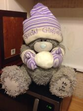 Me To You 17 Inch Grey Bear With Bobble Hat & Gloves Holding A Snow Ball