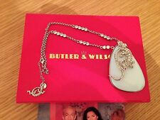 USED LADIES STATEMENT PENDANT NECKLACE LIZARD BY BUTLER & WILSON