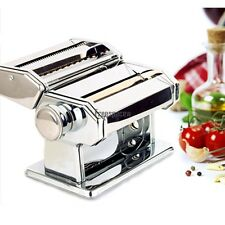 Pasta Maker Noodle Machine Spaghetti Clamp Fettuccine Roller Stainless 2 Cutter