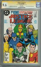 JUSTICE LEAGUE #1 SS CGC 9.6 AUTO KEITH GIFFEN JM DEMATTEIS