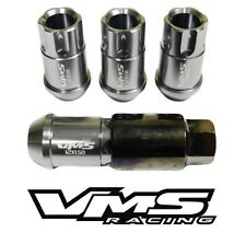4PC VMS RACING 12X1.25 GUNMETAL ALUMINUM LOCK LUG NUT SET FOR NISSAN INFINITI