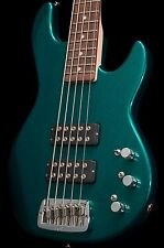 G&L L2500 5 String Bass Emerald Green Metallic w/ hard case l-2500