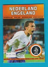 NETHERLANDS vs ENGLAND programme - 15 NOV 2006 - Friendly game