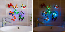 Multiple Color Changing Butterfly LED Night Light Home Room Party Wall Decor