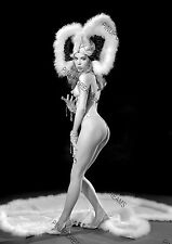 Vintage A4 Photo Poster Wall Art Print of Burlesque Pin-up Chelsea O'Hara