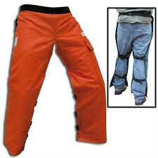 "ORANGE SAFETY CHAPS Apron Style Reg. length 35"" - 37.5 """