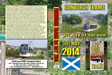 2863. Edinburgh. UK. Trams. May 2014. The sunny launch day for Edinburgh's long