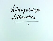 Heuschele Sequenc LUDWIGSBURGER SILHOUETTEN 1968 Lithos Auflage: 40 Ludwigsburg