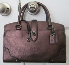 Coach 37779 Mercer Satchel 24 Bronze Antique Nickel Grain Leather Satchel