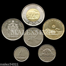 2013 COMPLETE COIN SET 5-CENT TO 2 DOLLARS UNCIRCULATED (6 COINS)