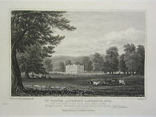 1826 ANTIQUE CHELTENHAM PRINT ~ SOUTH WEST VIEW SANDY WELL PARK
