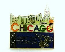 Collectible 2006 Chicago IL Illinois Light The Torch Olympics Moose Pin Tac