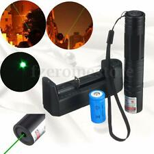 Potable 532nm 1mw Green Laser Pointer Light Pen Beam + 16340 + Battery Charger