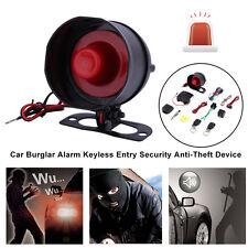 1-Way Auto Car Vehicle Burglar Alarm Security Keyless Entry System w/2 Remo