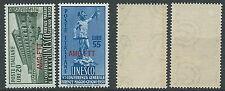 1950 TRIESTE A UNESCO GOMMA BICOLORE MNH ** - B5-2