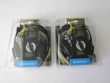 2X Sennheiser HD 202 II DJ Headband Over The Ear Headphones - Black 2 PCS New