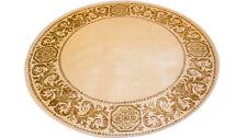 Teppich Rund Kunst Seide Mäander Medusa Beige Carpet 152 cm ∅ versac
