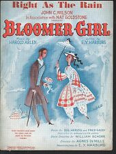 Right As The Rain 1944 Bloomer Girl