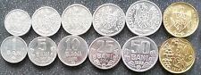 Moldova set 6 coins 1 5 10 25 2x 50 Bani 1993 - 2005 KM 1 2 3 4 7 10 UNC