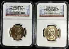 2007 JOHN ADAMS AND THOMAS JEFFERSON P DOLLAR COINS FIRST DAY OF ISSUE