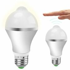 E27 7W 14 LED Light Bulb with PIR Motion Sensor Warm White Light Lamp