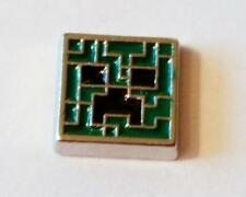 MINECRAFT**CREEPER  Silver Floating Charm for Living Memory Locket
