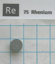 2,8-3,0 gram Rhenium Metal Pellet 99,96% - Element 75 sample!