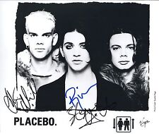 Placebo SIGNED Photo 1st Generation PRINT Ltd,  + Certificate /1