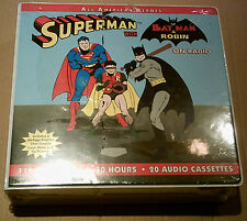 Superman & Batman on radio-New + sealed - 20 casetes - 30er años grabaciones