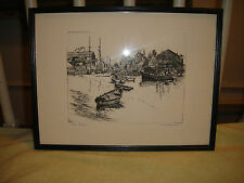 Vintage Lionel Barrymore Etching Reproduced In Talio Crome Facsimile-Framed