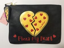 "LUV BETSEY by Betsey Johnson ""Pizza My Heart"" Tech Pouch Bag Clutch NWT $58"