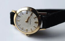 Vintage LeCoulter 14K Yellow Gold Ladies Wrist Watch