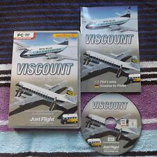 VISCOUNT LEGENDS OF FLIGHT PC DVD-ROM ( EXPANSION FOR FLIGHT SIMULATOR X FSX )